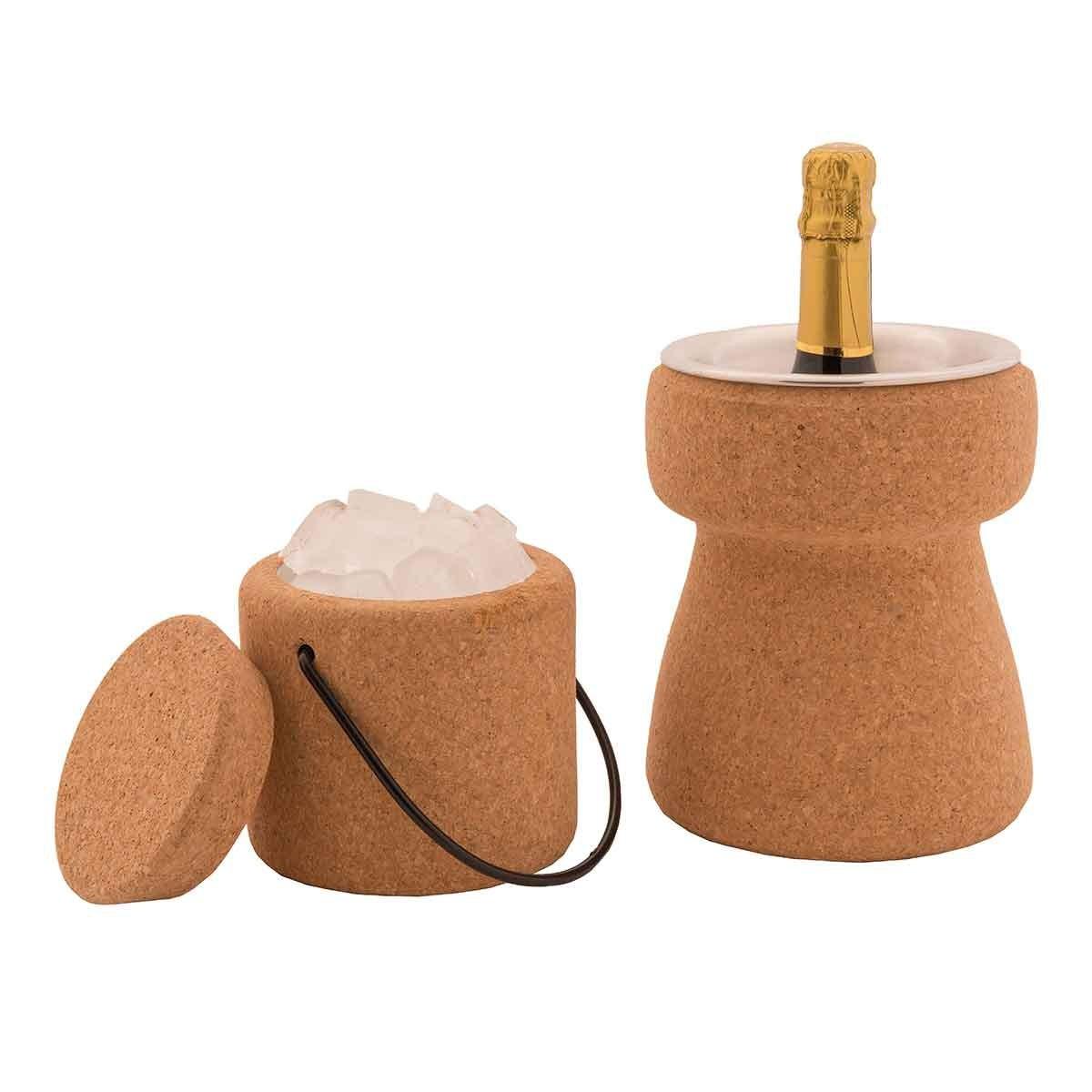 Secchiello ghiaccio oggetti e accessori tavola biosughero for Secchiello portaghiaccio