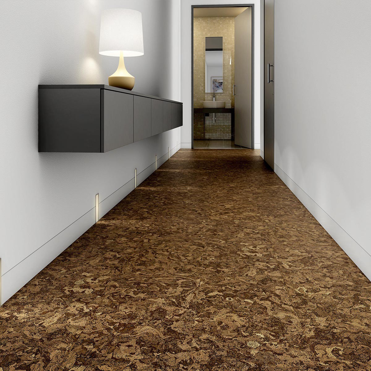 Pavimenti in parquet di sughero flottante o da incollare biosughero - Piastrelle da incollare su pavimento esistente ...