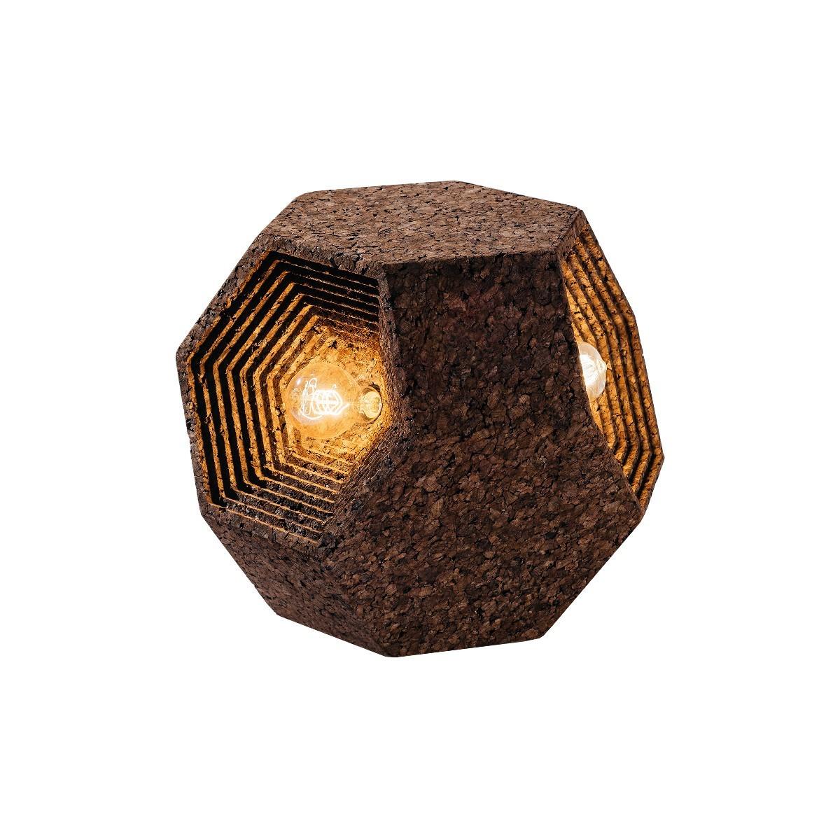 Lampada da terra in sughero lampade arredo design for Lampade arredo