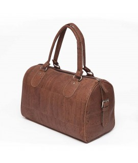 Duffel bag in sughero marrone