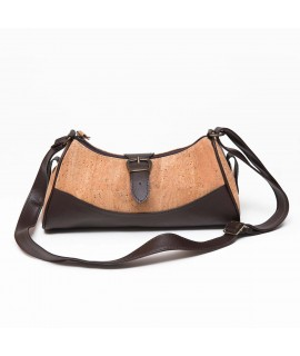 Borsa in sughero beige e nero Estoril