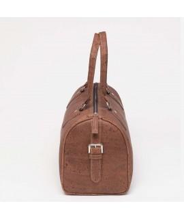 Duffel bag in sughero marrone