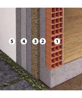 Isolamento a cappotto parete esterna con sughero