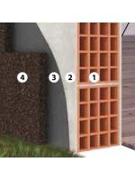 Isolamento a cappotto faccia a vista parete esterna con sughero