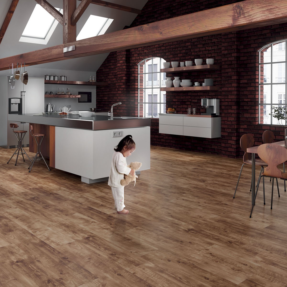 Cork floor Linden Brown