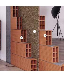 Isolamento intercapedine parete divisoria con sughero
