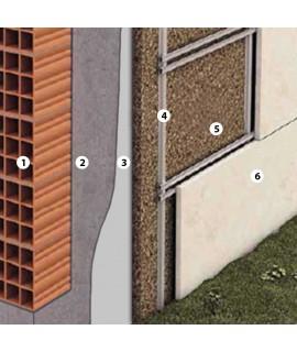Isolamento in sughero parete ventilata