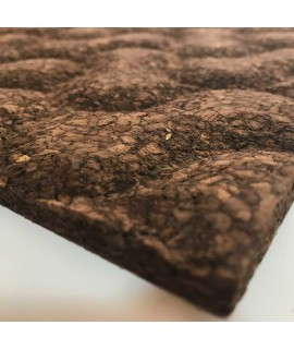 Rivestimento in sughero bruno espanso 3D Cookies Brown