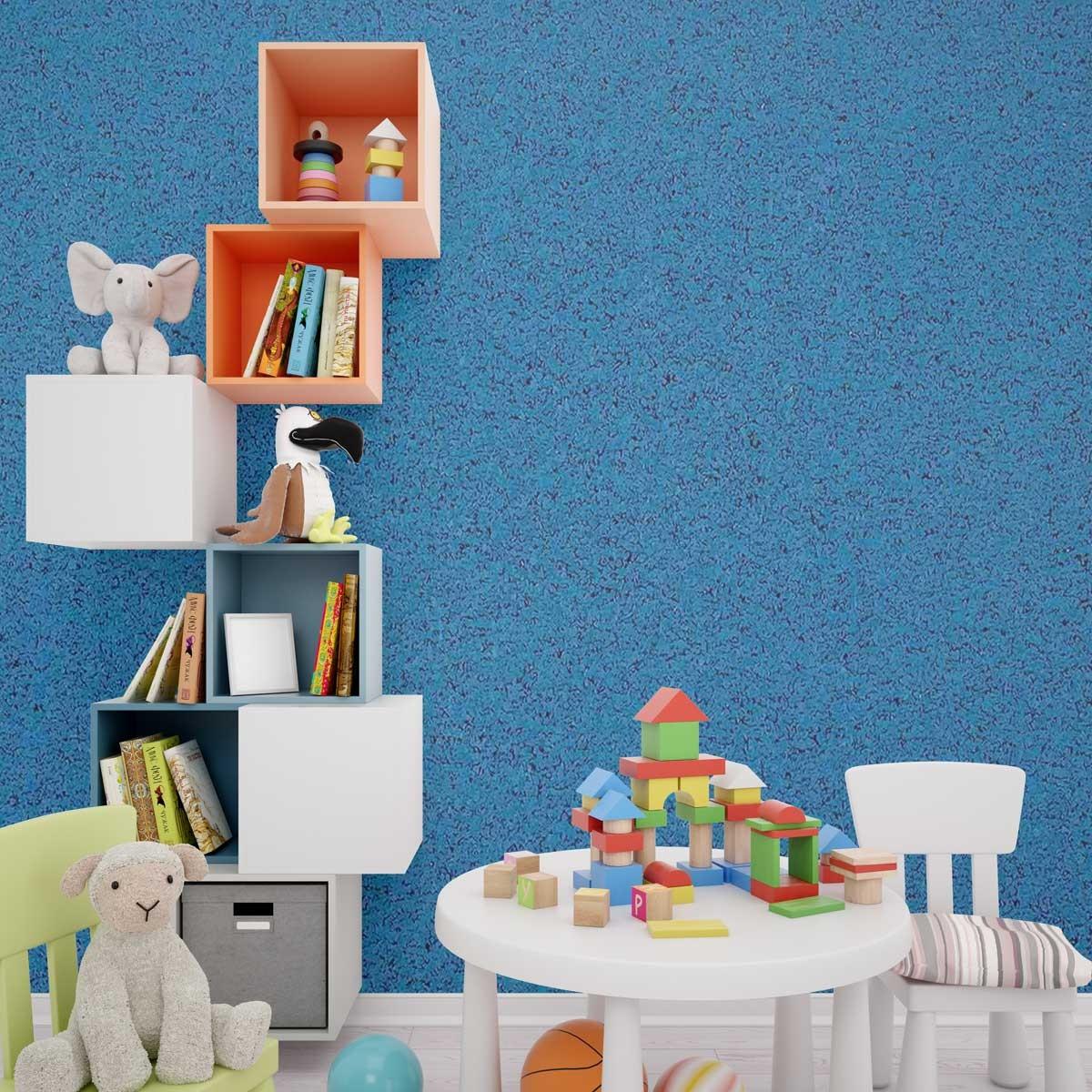 Rivestimento decorativo in sughero isolante color blu biosughero - Rivestimento decorativo pareti ...