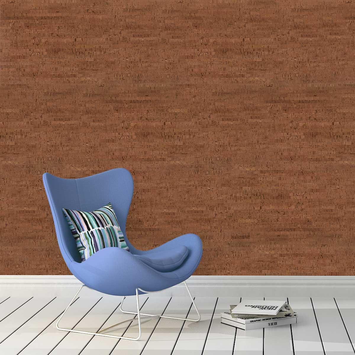 Rivestimento decorativo isolante in sughero colore marrone per pareti - Rivestimento decorativo pareti ...