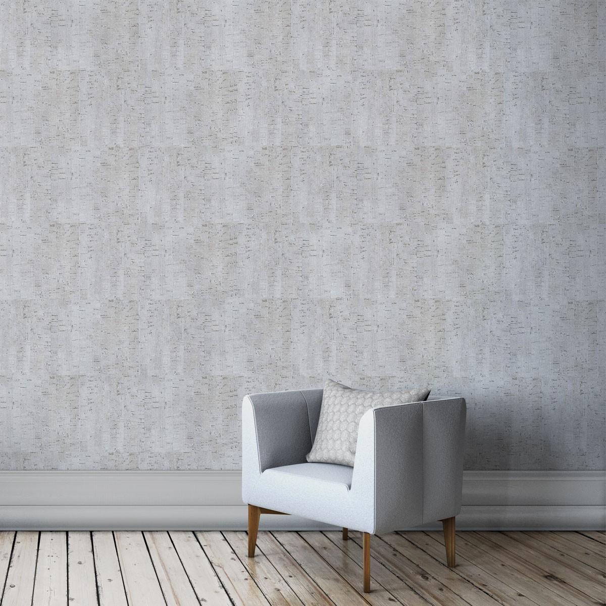 Rivestimento decorativo in sughero color argento per pareti e soffitte - Rivestimento decorativo pareti ...