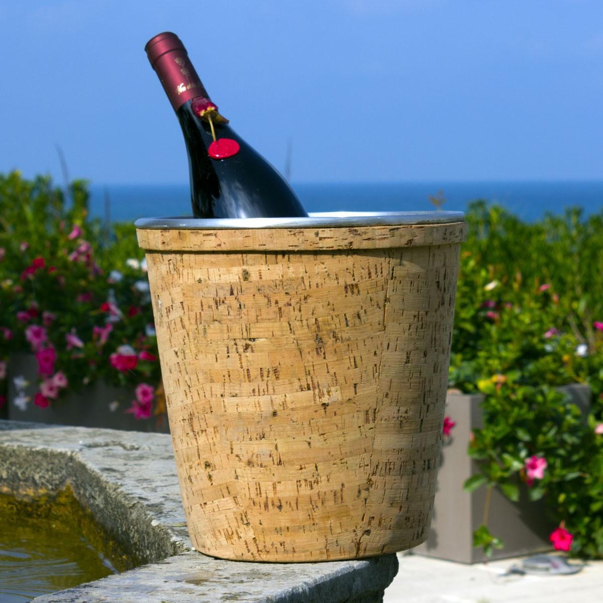 Secchiello ghiaccio in sughero a forma di tappo Champagne