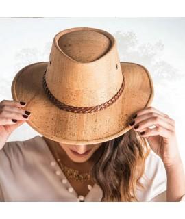 Cappello in sughero colore marrone a tesa larga Madera