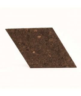 Losango 6 pz elemento decorativo in sughero bruno