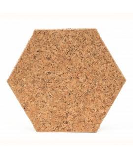 Hexágono elemento decorativo in sughero naturale