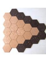 Elemento decorativo Hexagono in sughero biondo