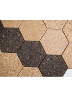 Hexágono elemento decorativo in sughero bruno