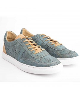 Sneakers in sughero Natural e Azul
