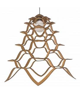 Lampadario design in sughero Amaterasu