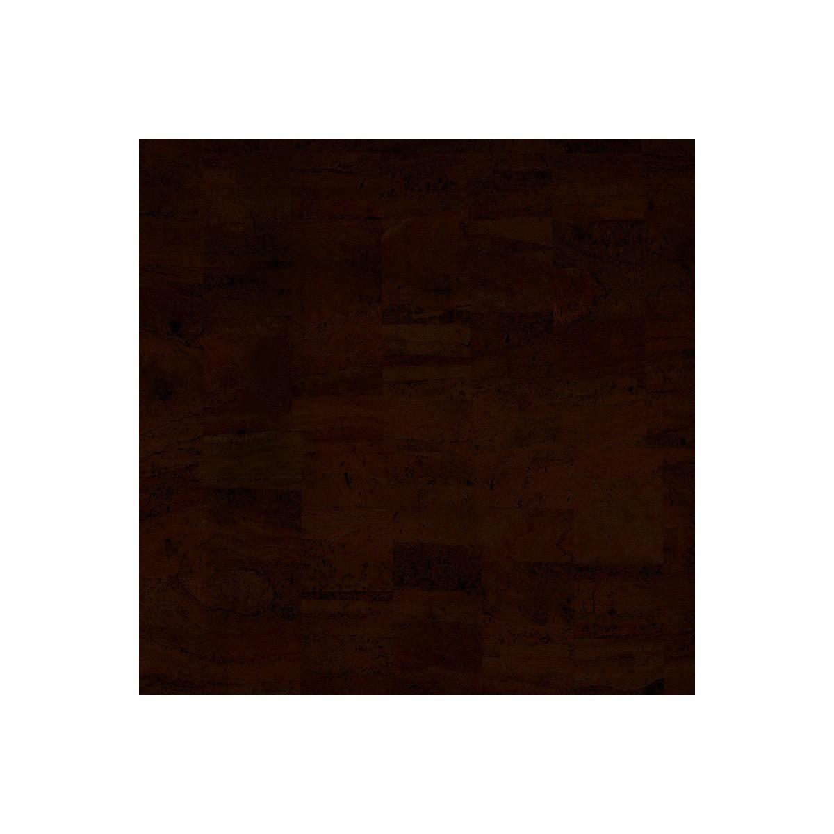 Cork fabric Natural Coloured - Pear Dark Brown