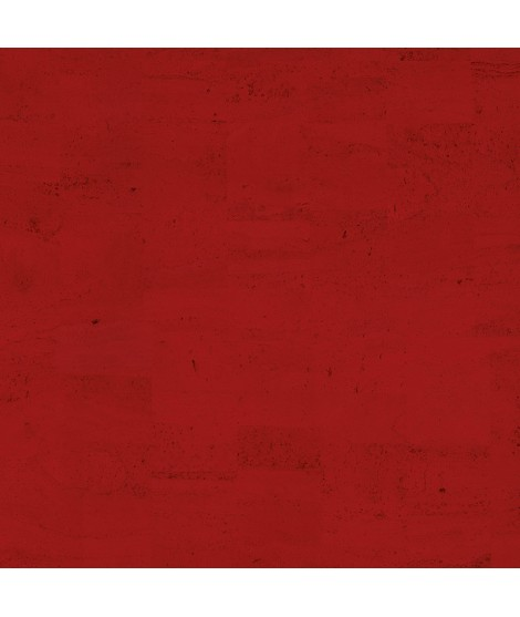 Cork fabric Natural Coloured - Pear Red