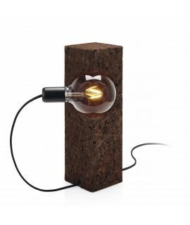 Lampada in sughero con vetro trasparente Boolean Lamp Tube
