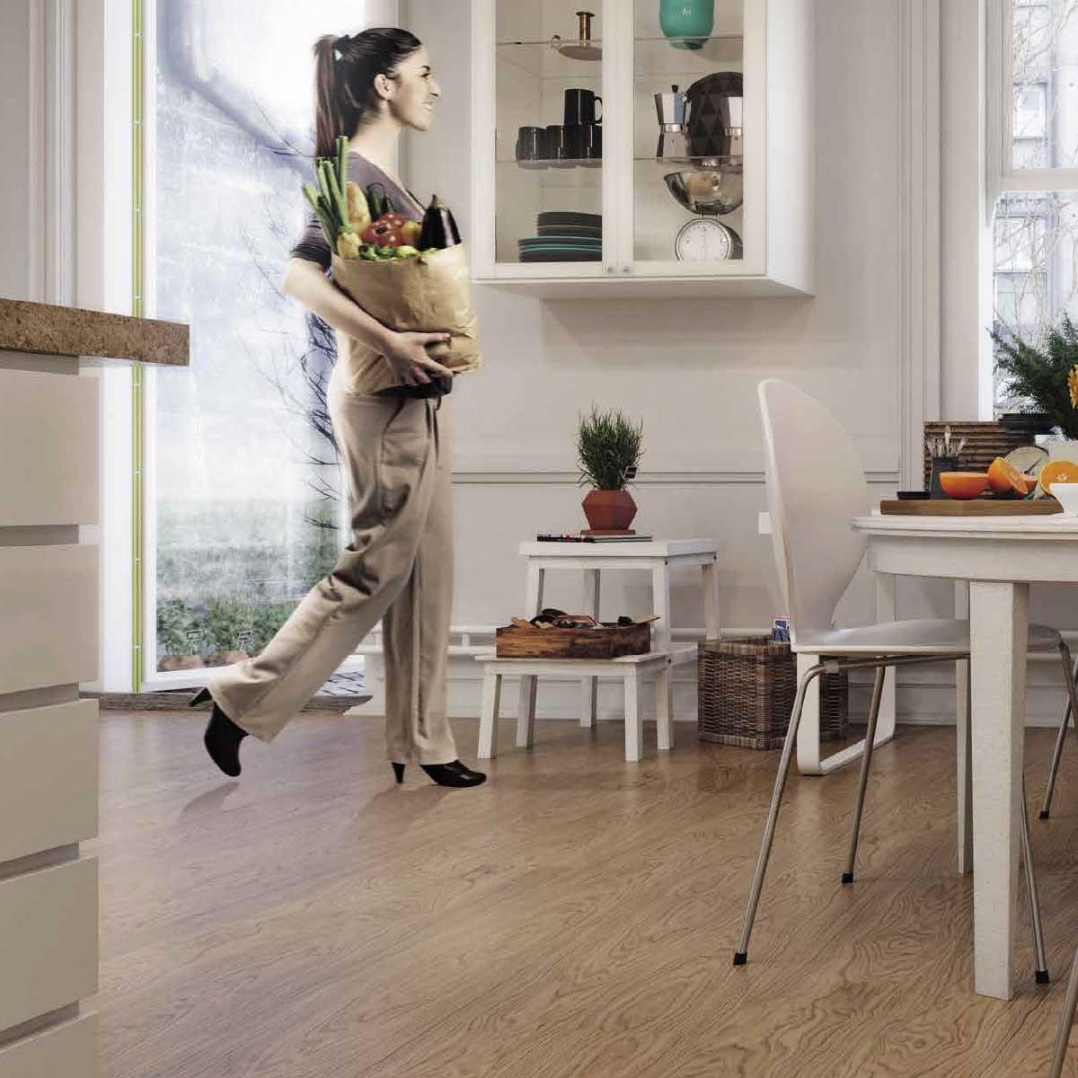 Pavimento in sughero effetto legno European Oak