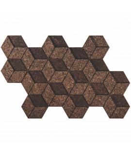 Rivestimento 3D in sughero decorativo Cube