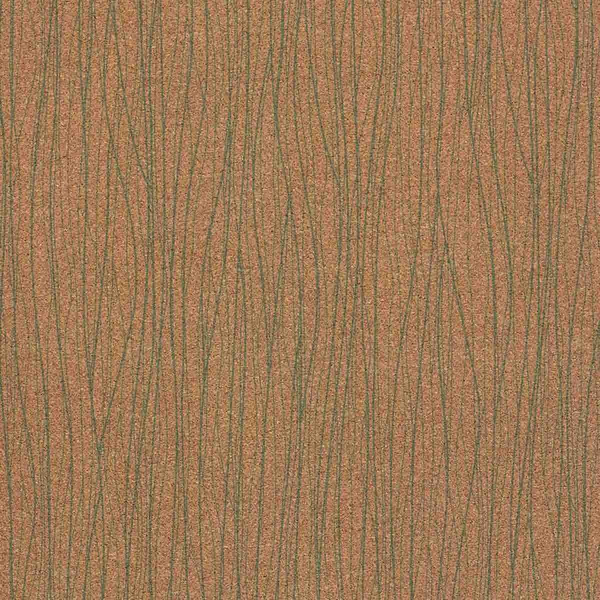 carta da parati in sughero spessore 0,5mm Connect Jade Cork
