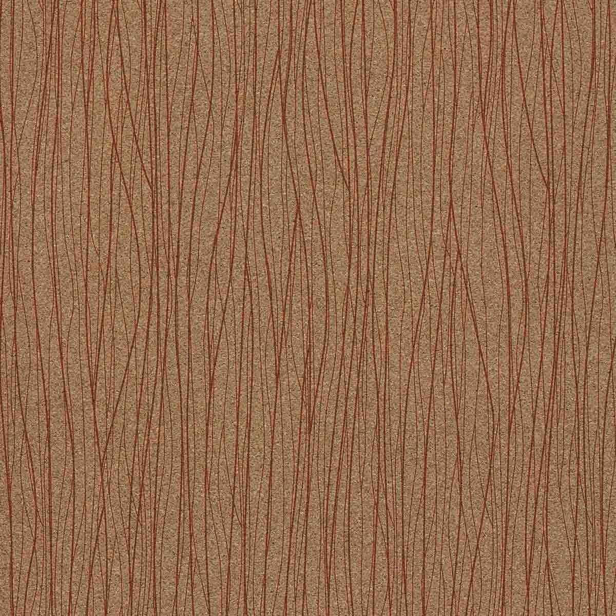 Decorative cork thin paper Connect Meca Orange Reverse Cork