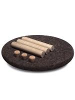 Tavolino rotondo in sughero e legno Rolha