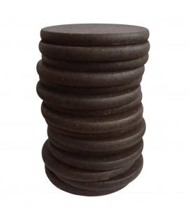 Sgabello design in sughero nero Stack
