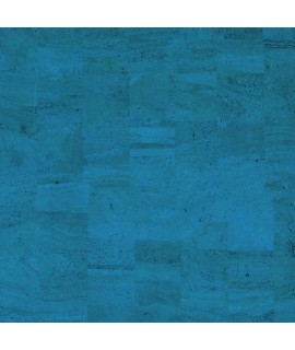 Cork fabric Natural Coloured - Pear Blue
