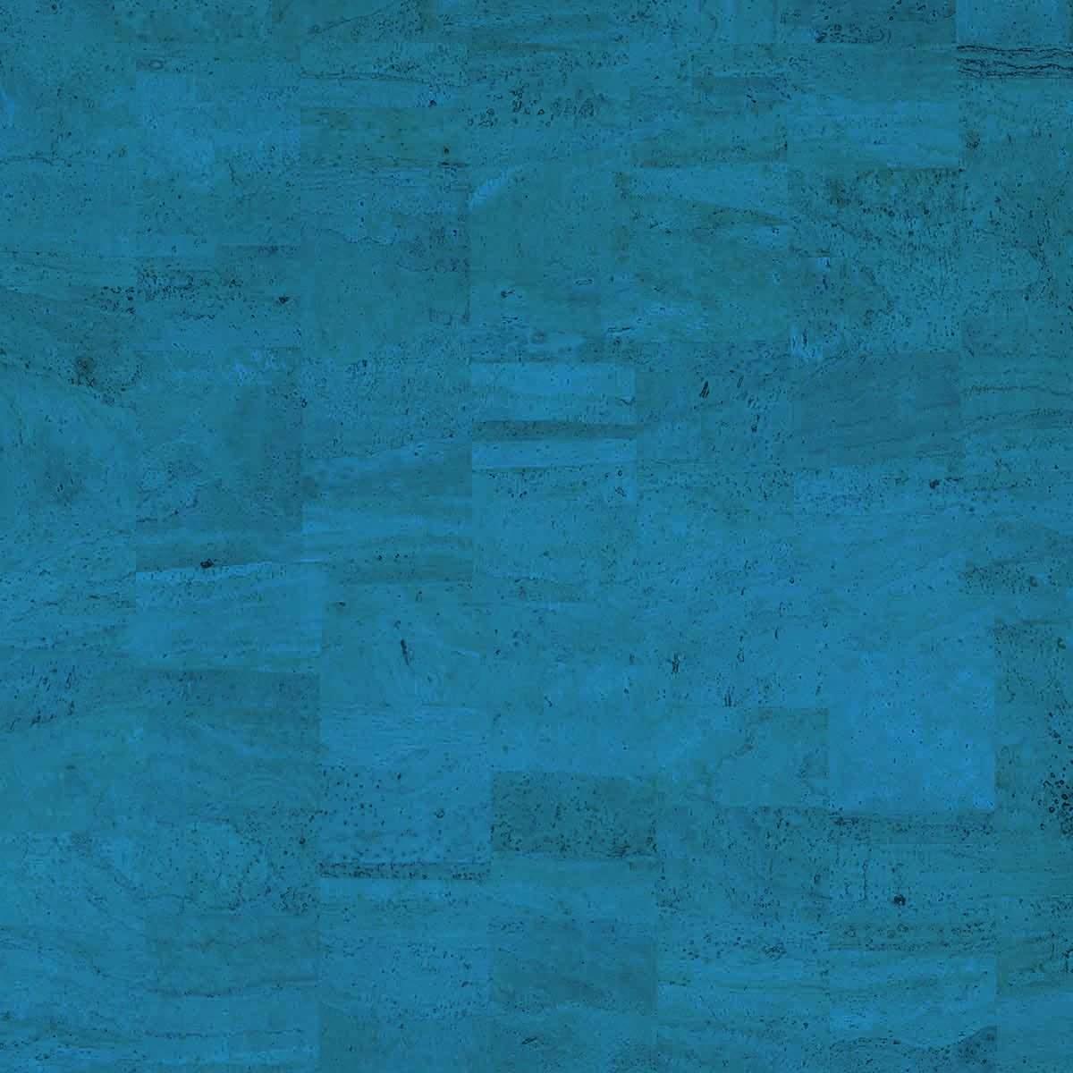 Cork fabric Natural Coloured - Pear Blue