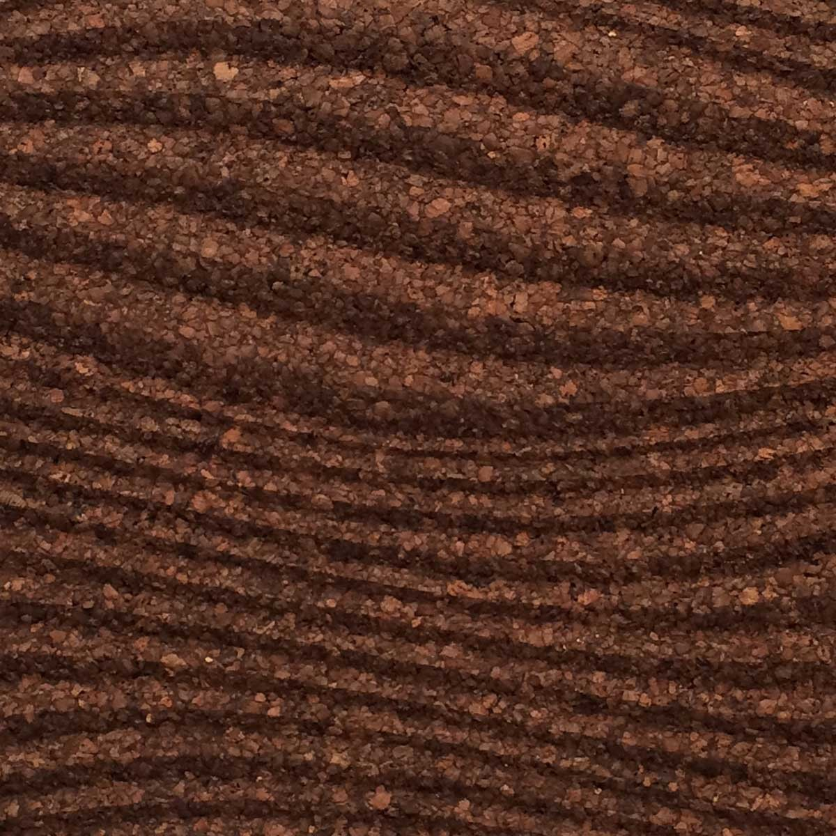 Pannello murale in sughero 3D Waves Brown