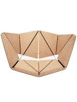Poltrona design in sughero beige e struttura in acciaio Vinco