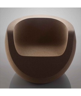 Poltrona design in sughero massiccio Moon Chair