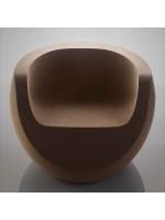 Poltrona design in sughero massiccio Moon Chair