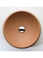 Lavandino design rotondo in sughero beige Wash Basin