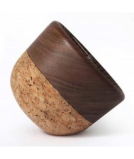 Orologio design in sughero e legno Wait