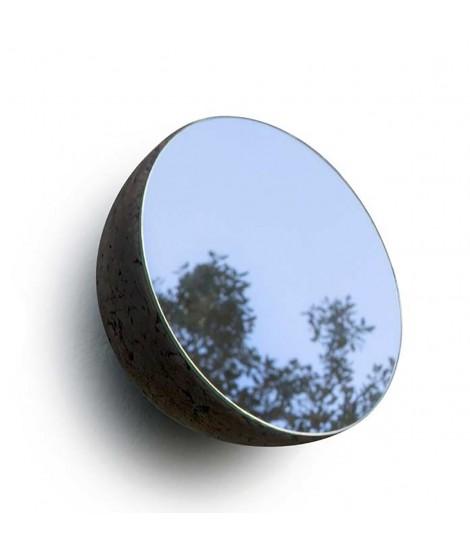 Specchio design con struttura in sughero a forma di semisfera Moon
