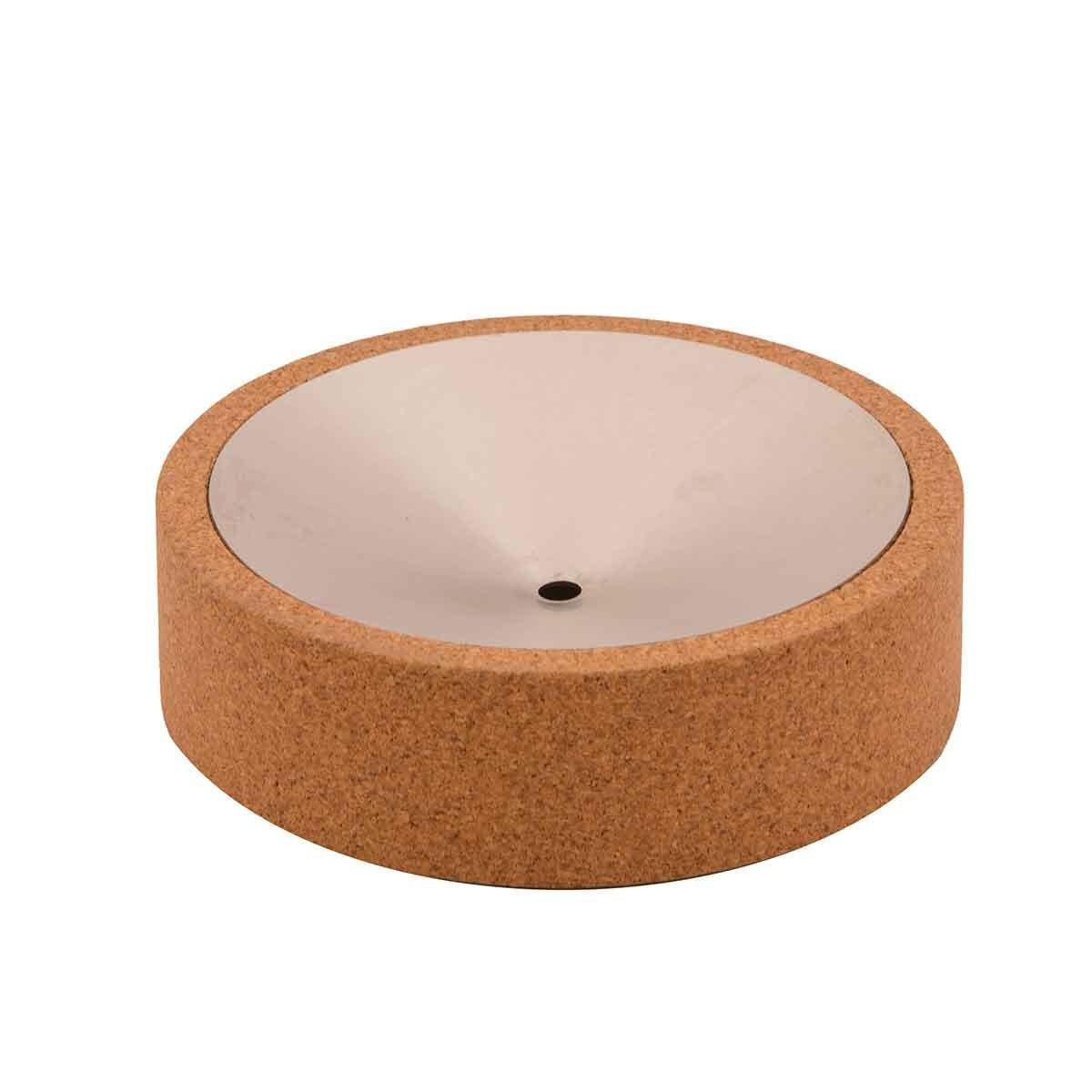 Portasapone in sughero e acciaio Cilindro Soap