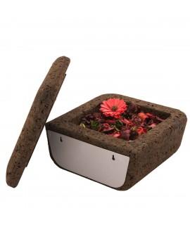 Contenitore in sughero bruno Magic Box