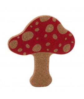 Sottopentola design in sughero a forma di fungo Vegan