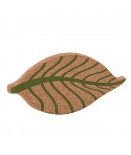 Sottopentola design in sughero a forma di foglia Vegan