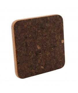 Sottopentola in sughero quadrato Black