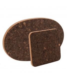 Sottopentola in sughero varie forme Black