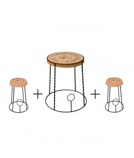Set Arredamento Design winebar Gabbietta