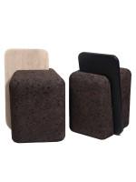 Sgabello design in sughero bruno e schienale in legno Cut