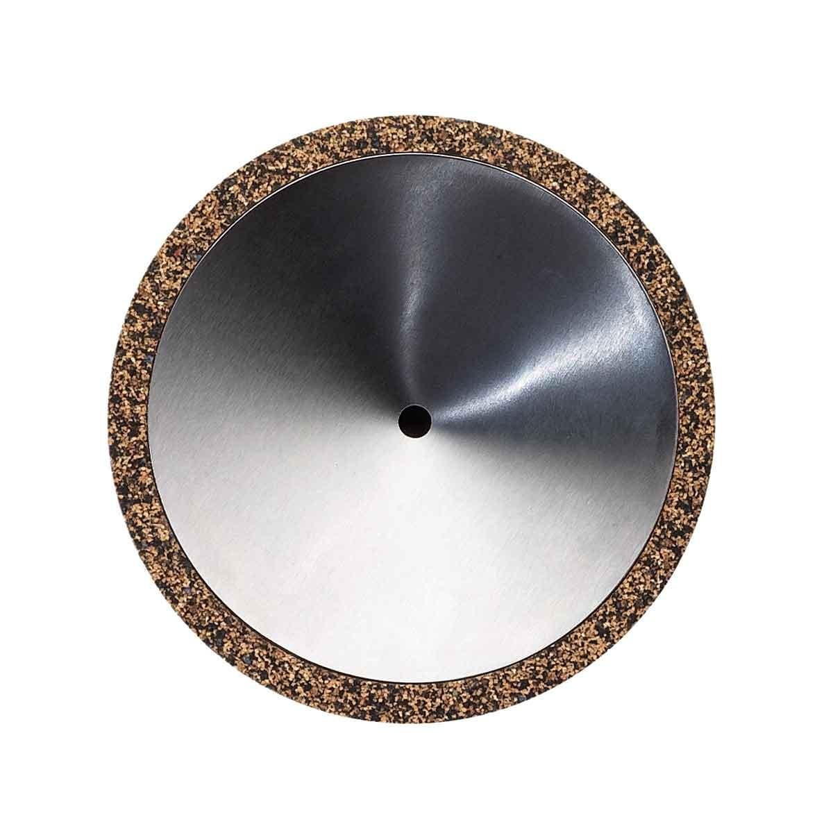 Portasapone in sughero, gomma riciclata e acciaio Cilindro Soap
